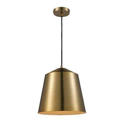 1-Light Metal Brass Pendant
