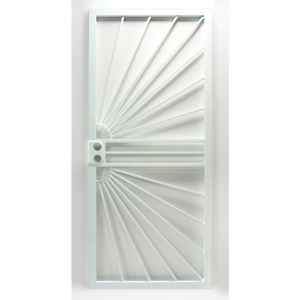 469 Series White Prehung Universal Hinge Outswing Sunburst  sc 1 st  Home Depot : sunburst door - pezcame.com