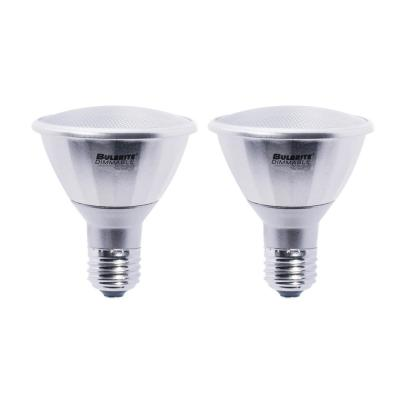 75W Equivalent Warm White PAR30LN Dimmable LED Wet Rated Light Bulb (2-Pack)