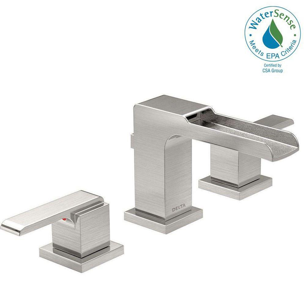 Ara 8 in. Widespread 2-Handle Bathroom Faucet with Channel Spout and
