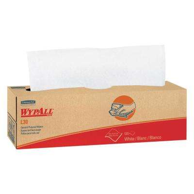 L30 White Pop-Up Wipers (8 Boxes of 100 Wipers)