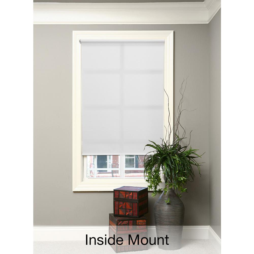 Cut-to-Size White Cordless Light Filtering Fade resistant Roller Shades 37 in. W x 72 in. L