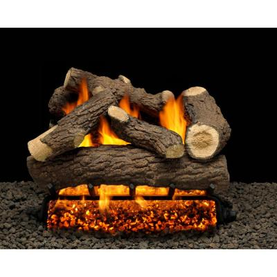 Cordoba 30 in. Vented Natural Gas Fireplace Logs Complete Set with Manual Safety Pilot Kit