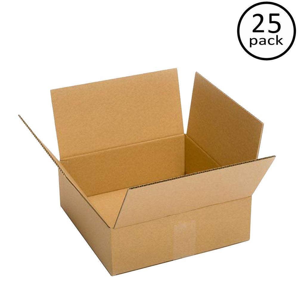 Plain Brown Box 12 in. x 12 in. x 6 in. 25-Box Bundle