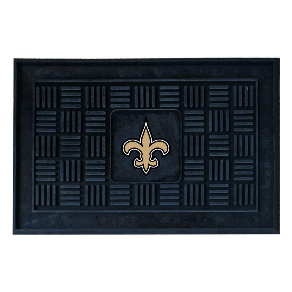 Fanmats New Orleans Saints 18 In X 30 In Door Mat 11448 The Home Depot
