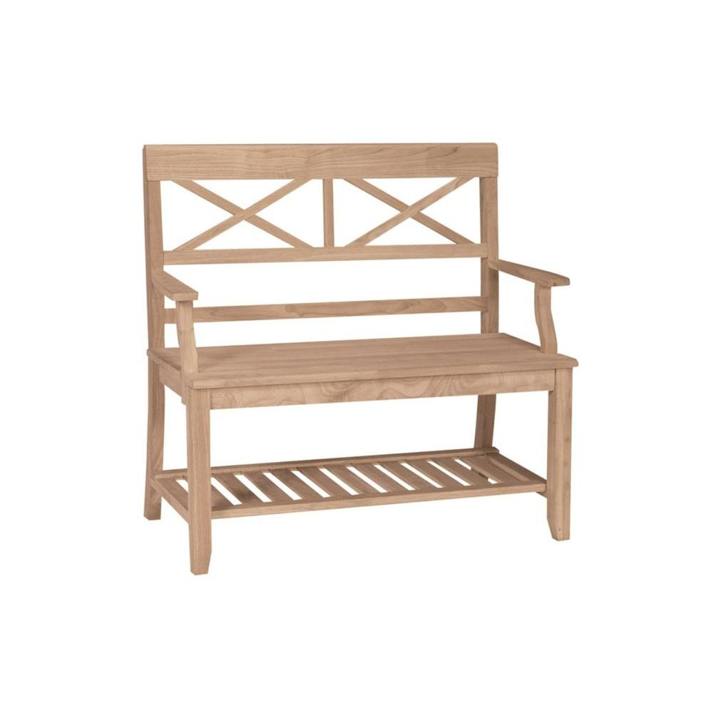 International Concepts Unfinished Bench Be 1 The Home Depot