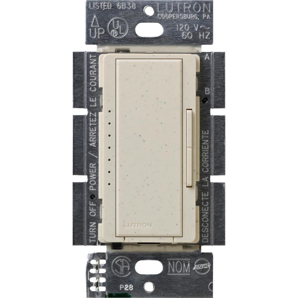 Lutron Maestro 600-Watt Multi-Location Electronic Low-Voltage Digital Dimmer, Limestone