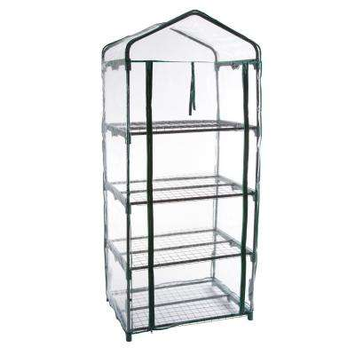 27.5 in. x 19 in. x 63 in. 4 Tier Greenhouse