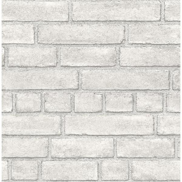 A-Street 56.4 sq. ft. Façade Off-White Brick Wallpaper 2540-24051
