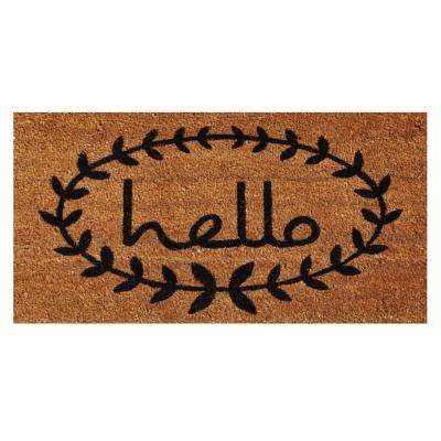 Calico Hello 36 in. x 72 in. Door Mat