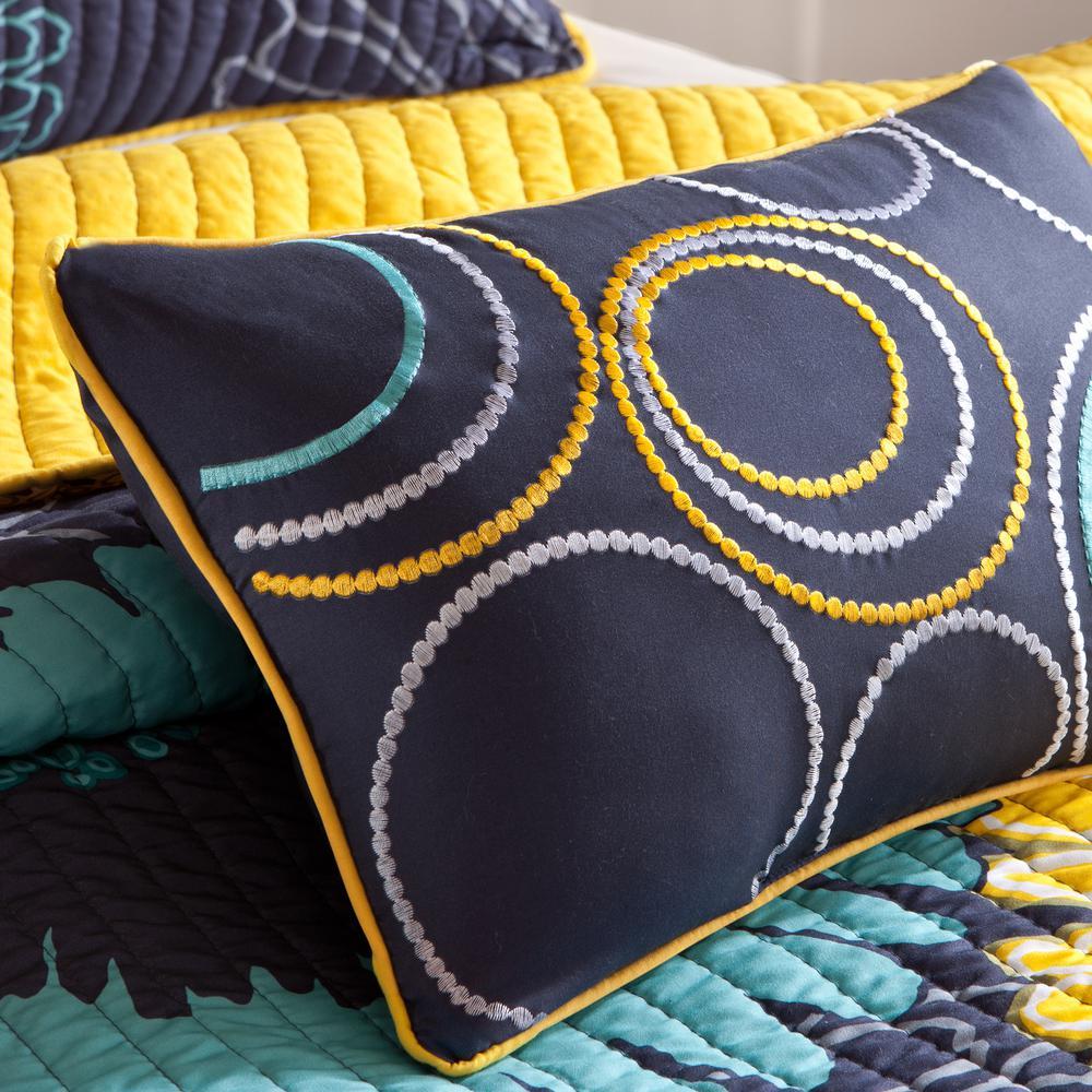 Mi Zone Iris 4-Piece Yellow Full/Queen Floral Coverlet Quilt Set