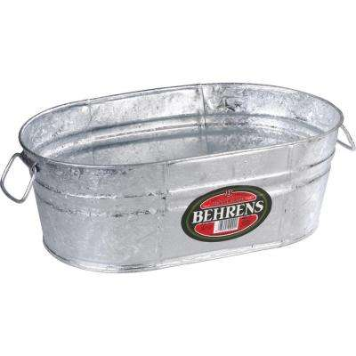 4 Gal. Hot Dipped Steel Oval Tub