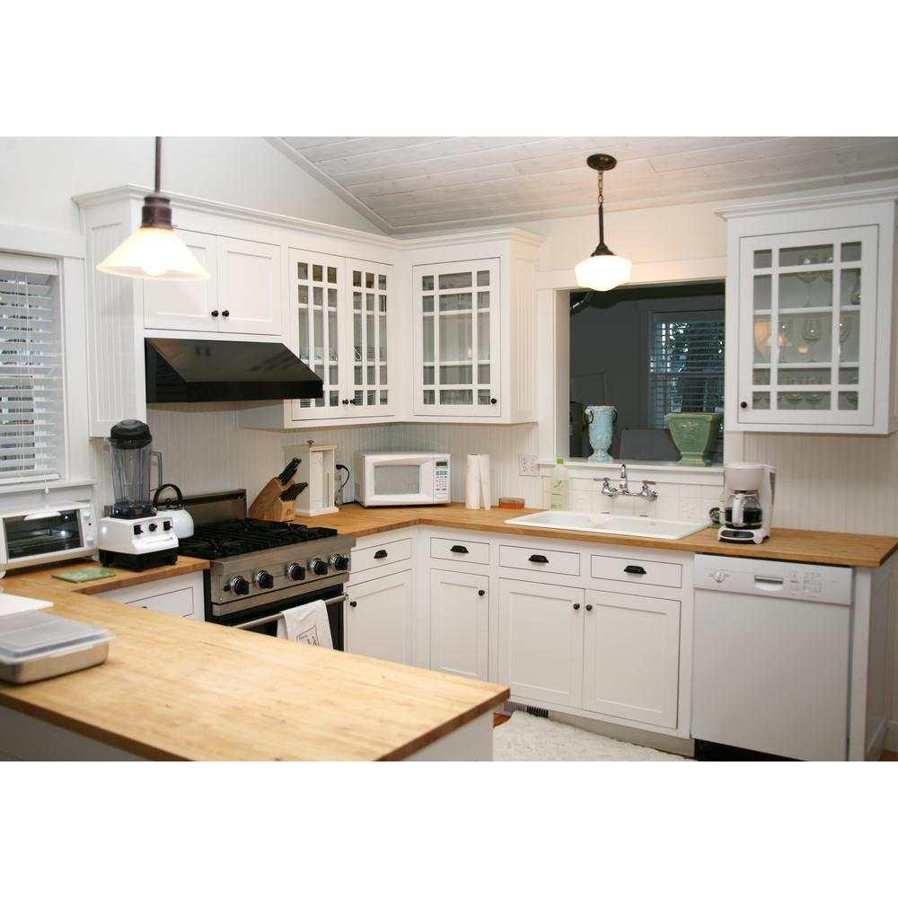 Swaner Hardwood 8 ft. L x 2 ft. 6 in. D x 3 in. T Butcher Block Countertop  in Finished Maple