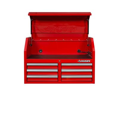36 in. W 12-Drawer Combination Tool Chest and Cabinet Combo in Gloss Red