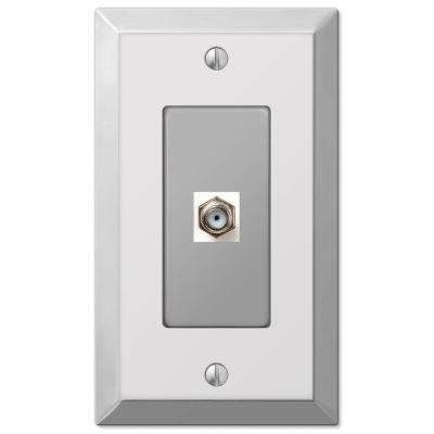Century 1 Coax Wall Plate - Chrome