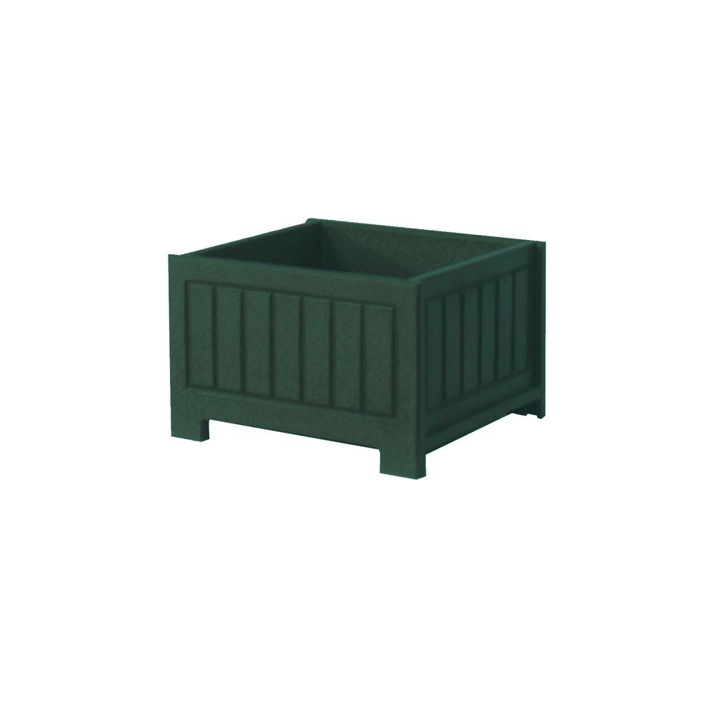Eagle One Catalina 17 in. x 17 in. Green Recycled Plastic Commercial Grade Planter Box