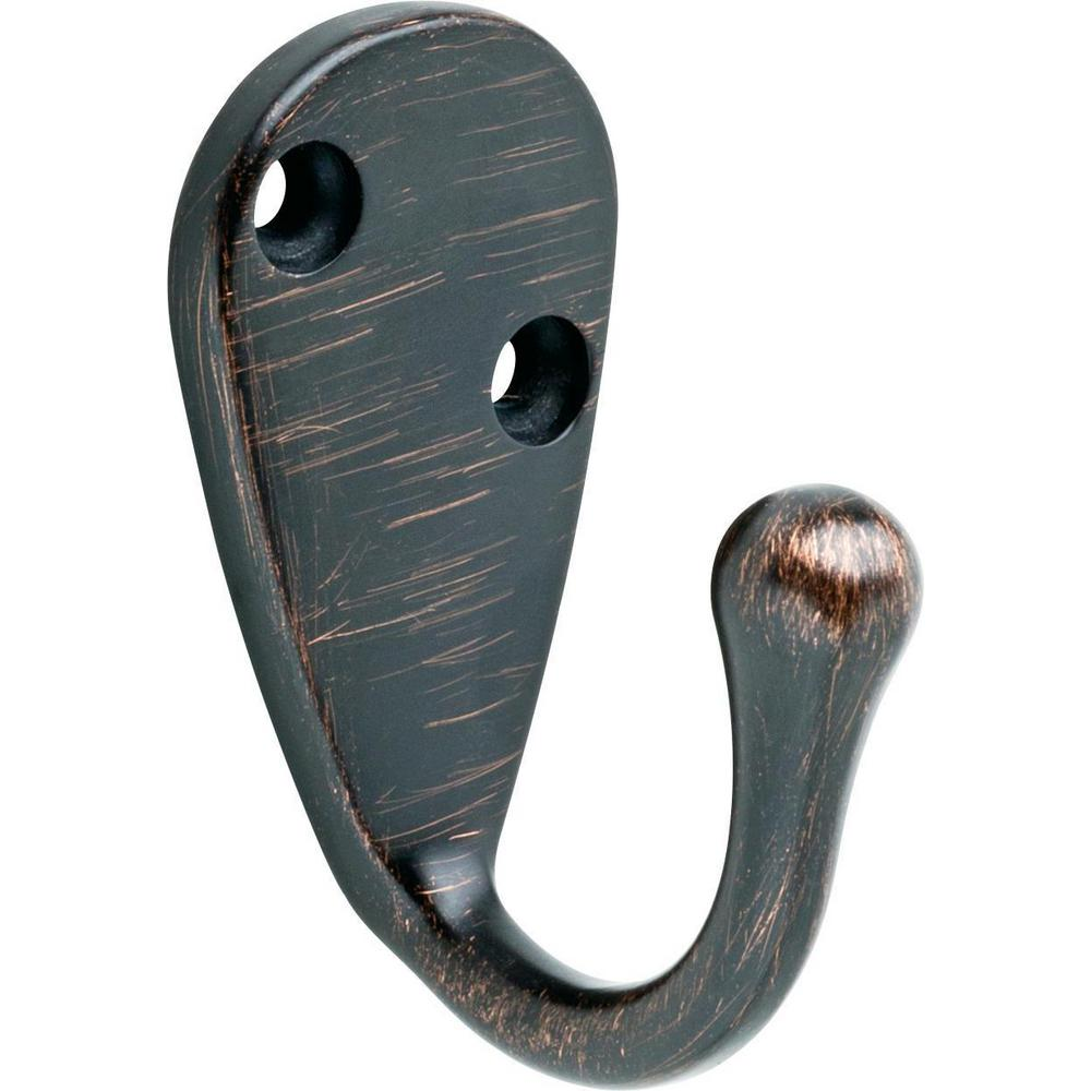 Liberty 2-3/5 in. Venetian Bronze Single Wall Hook
