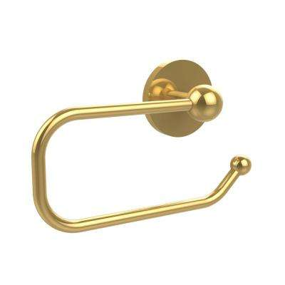 Prestige Skyline Collection European Style Single Post Toilet Paper Holder in Polished Brass