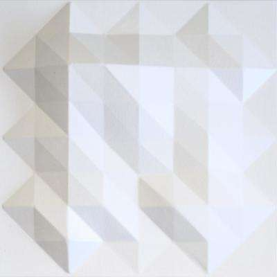 Fractals White Geometric Strippable Wallpaper