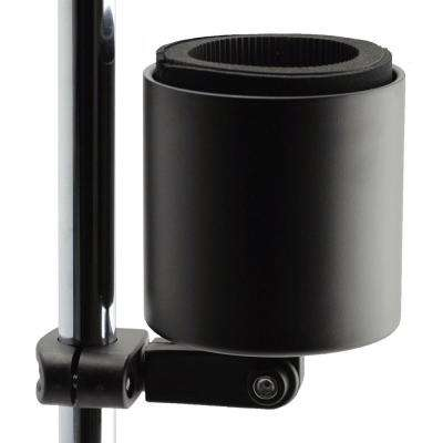 Kroozercups Deluxe Drink Holder Fit Bars from 5/8 in. to 1-3/8 in. at any Angle with New Super-Tight Grip in Flat Black