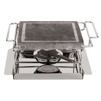 Tabletop Stone Grill Set in Single Burner