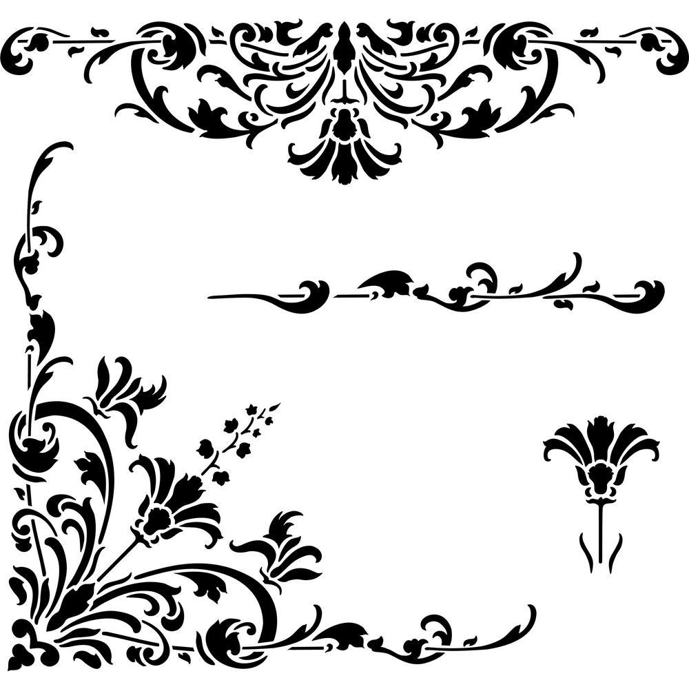 Designer Stencils Compass Rose Wall Stencil FS040 - The Home
