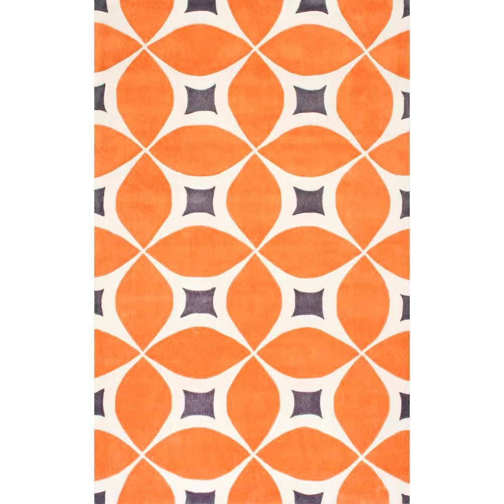 Gabriela Deep Orange 6 ft. x 9 ft. Area Rug