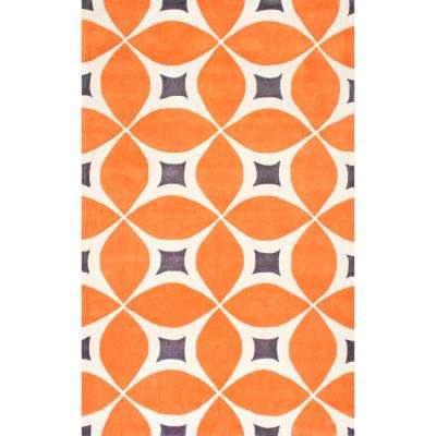 Gabriela Deep Orange 7 ft. 6 in. x 9 ft. 6 in. Area Rug