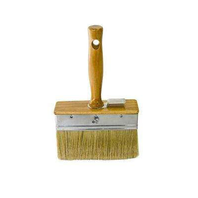 6 in. x 2 in. Wood Handle Plaster Brush with White China Bristle