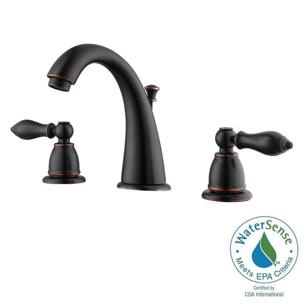 Hathaway 8 in. Widespread 2-Handle Bathroom Faucet in Oil Rubbed Bronze