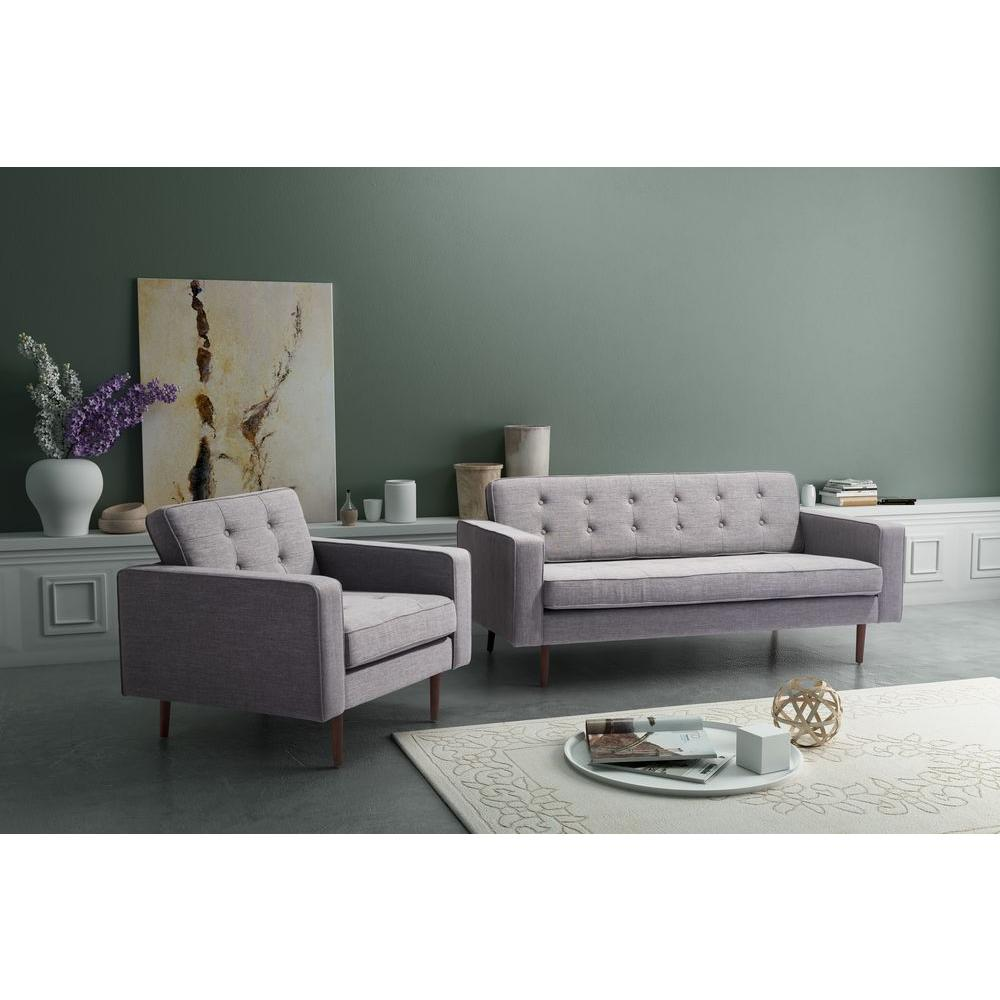 ZUO Puget Gray Cotton Linen Blend Sofa