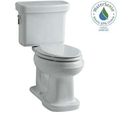 Bancroft 2-Piece 1.28 GPF Single Flush Elongated Toilet with AquaPiston Flush Technology in Ice Grey, Seat Not Included
