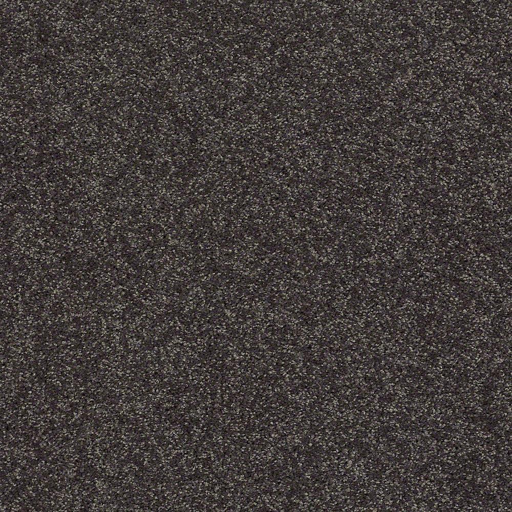 Slingshot I - Color Black Tie Affair Texture 12 ft. Carpet
