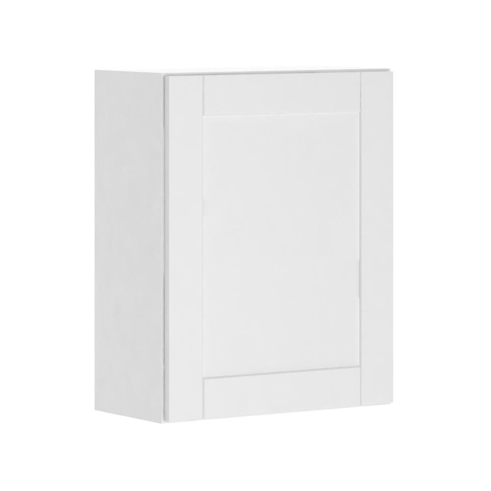 Hampton Bay Princeton Shaker Assembled 24x30x12 In Wall Cabinet In Warm White W2430 Pww The