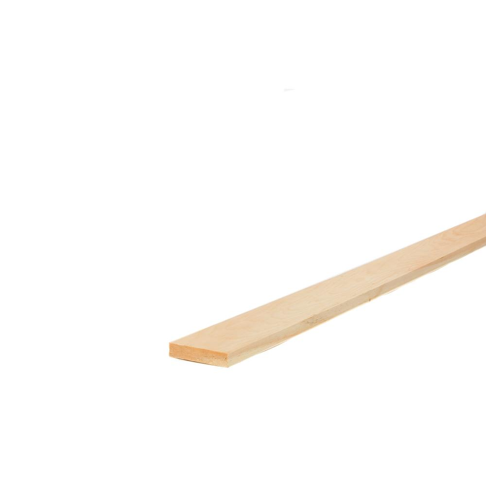1 in. x 4 in. x 8 ft. Select Kiln-Dried Square Edge Whitewood Board