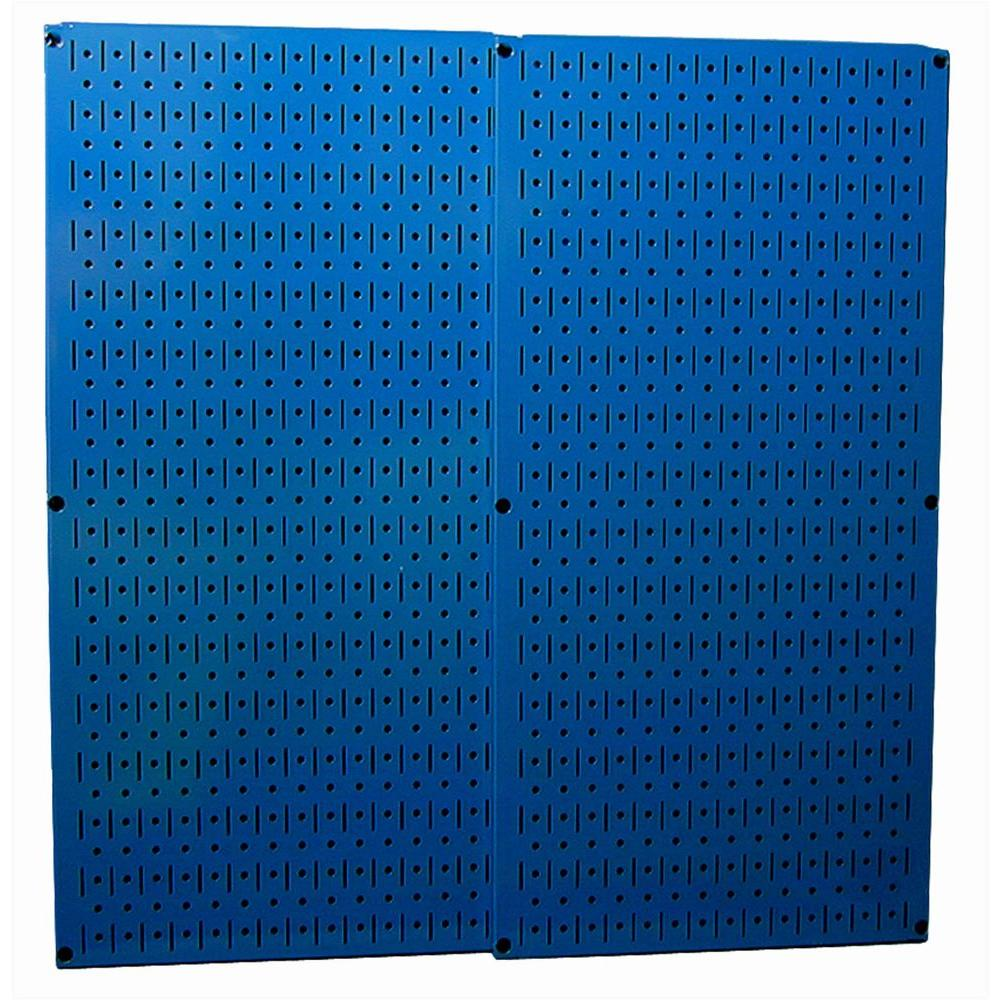 32 in. x 32 in. Overall Size Blue Metal Pegboard Pack