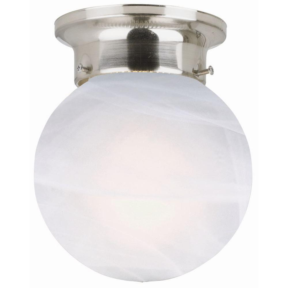 Design House Millbridge 1-Light Satin Nickel Round Ceiling Light