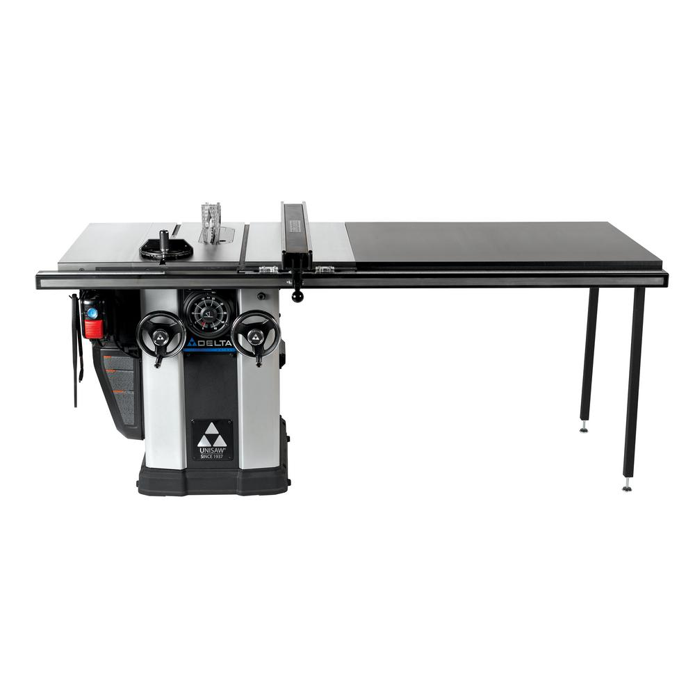 Delta 3 Hp Left Tilt Unisaw Table Saw With 52 In Biesemeyer Fence System