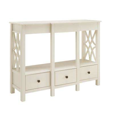 Sloane Antique White TV Stand