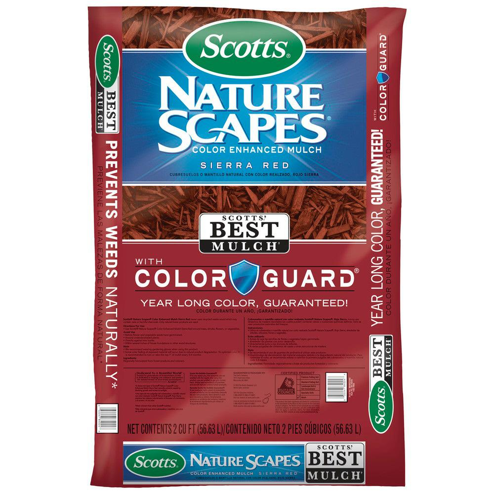 Scotts Naturescapes 2 Cu Ft Sierra Red Color Enhanced Mulch