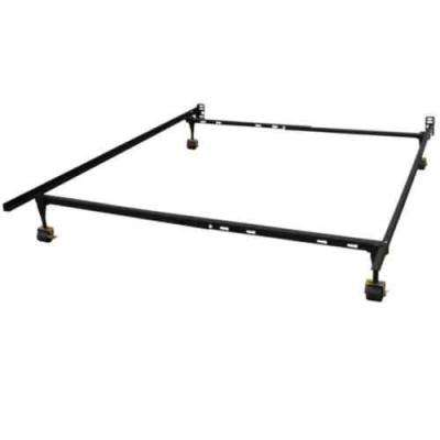 Hercules Standard Adjustable Bed Frame with 4 Legs and Locking Rug Rollers, Twin, Twin XL, Full, Full XL and Queen