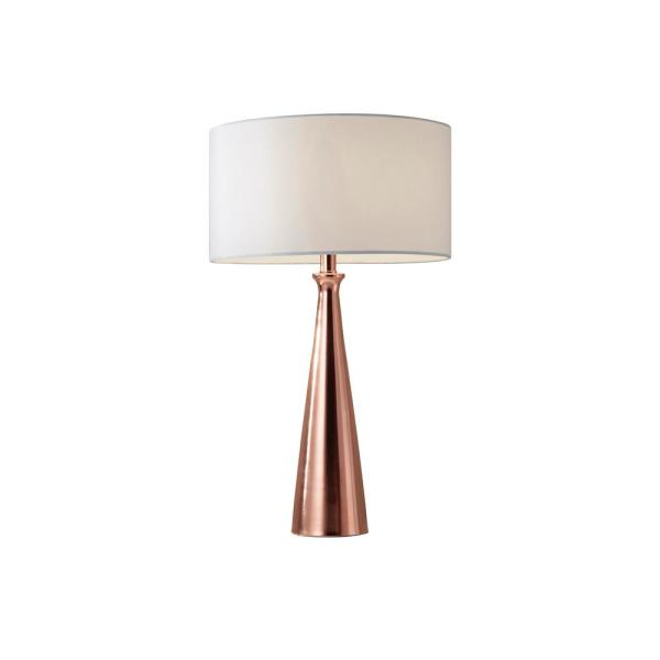 Adesso Linda 21 5 In Copper Table Lamp 1517 20 The Home Depot