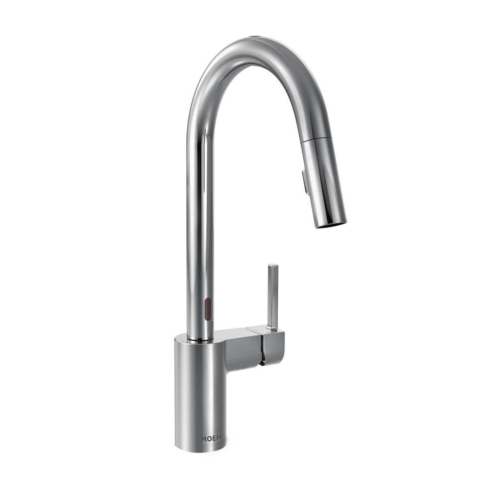 MOEN Align Single-Handle Pull-Down Sprayer Touchless Kitchen Faucet with  MotionSense and Power Clean in Chrome