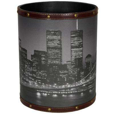 Oriental Furniture 8.25 in. x 10 in. Brooklyn Bridge Waste Basket