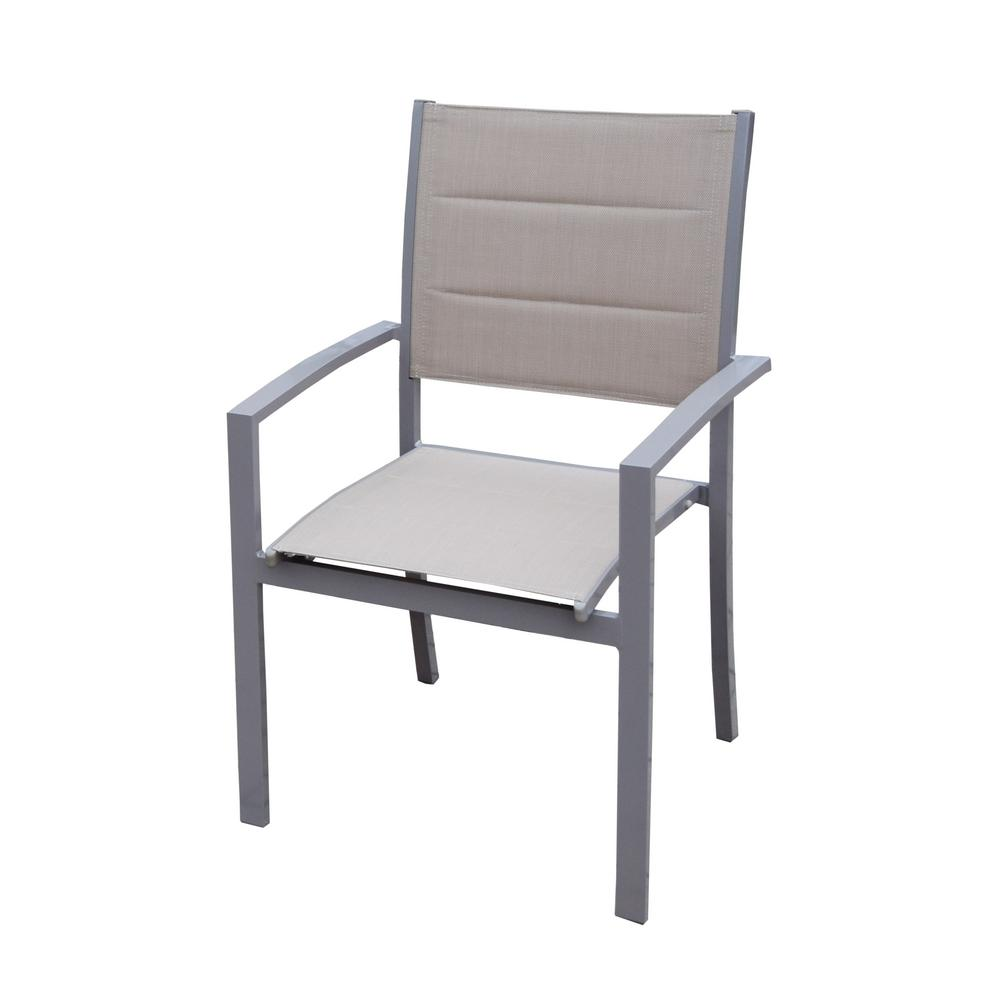 Padded Stackable Sling Outdoor Dining Chair