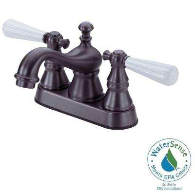 1100 Series 4 in. Centerset 2-Handle Bathroom Faucet in Oil Rubbed Bronze