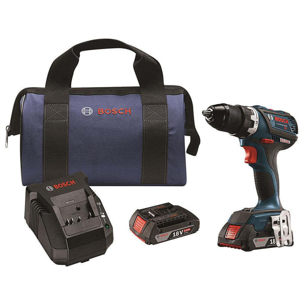 18-Volt 1/2 in. Cordless EC Brushless Compact Tough Drill/Driver Kit