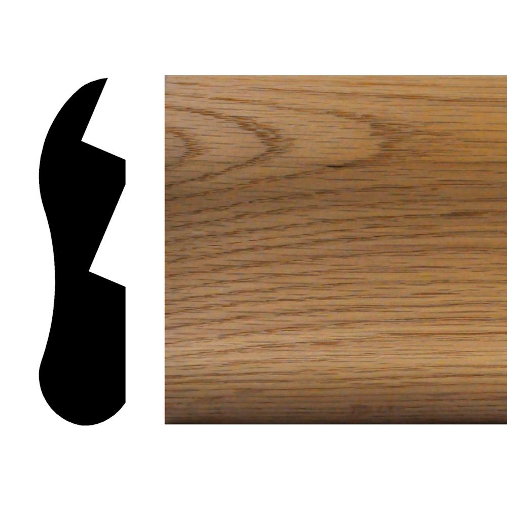 House Of Fara 1 1/8 In. X 4 1/2 In. X 96 In. Oak Chicago Bar Rail Moulding BR45    The Home Depot
