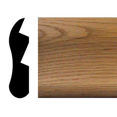 1-1/8 in. x 4-1/2 in. x 96 in. Oak Chicago Bar Rail Moulding