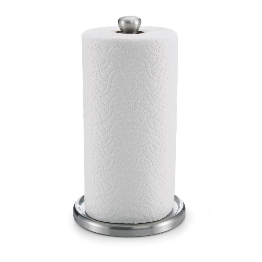 Single Tear Paper Towel Holder in Silver